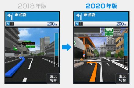 2018年版と2020年版表示比較