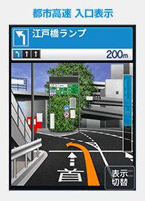 都市高速入口表示