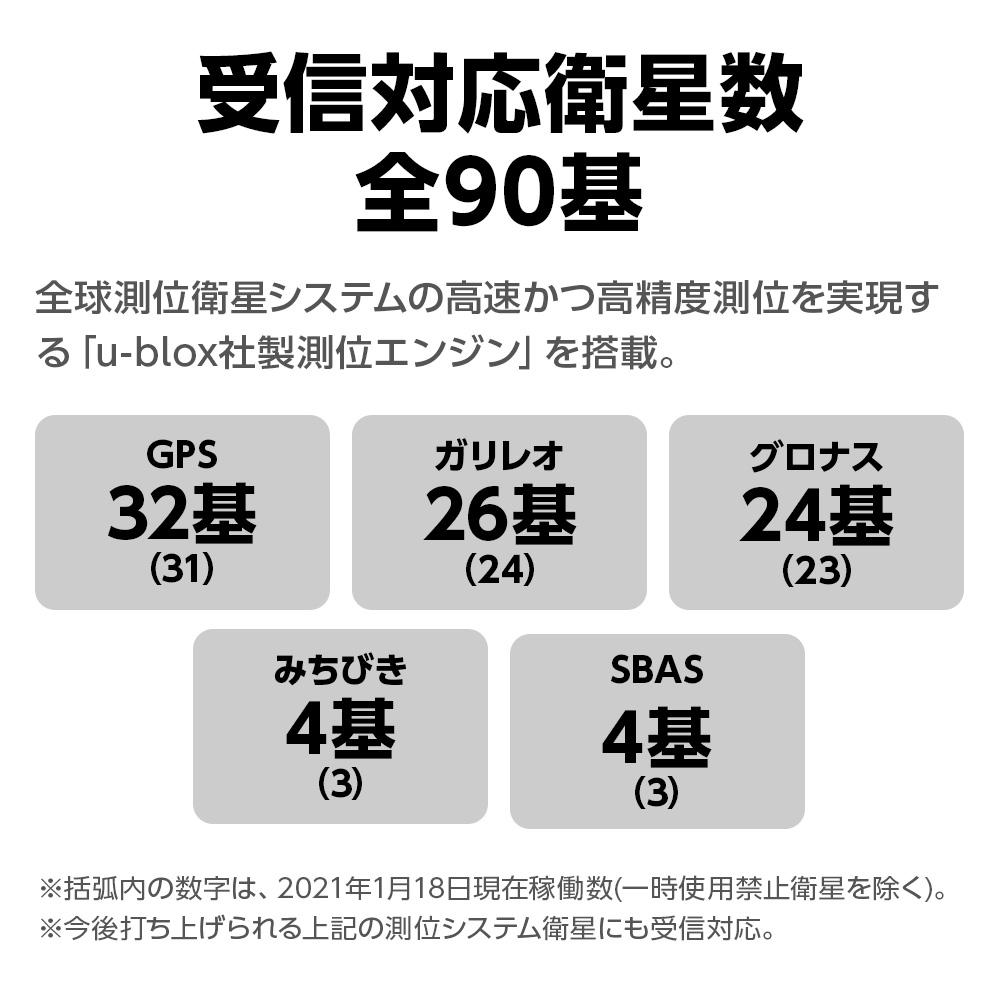 受信対応衛星数全84基 レーザー&レーダー探知機 A370