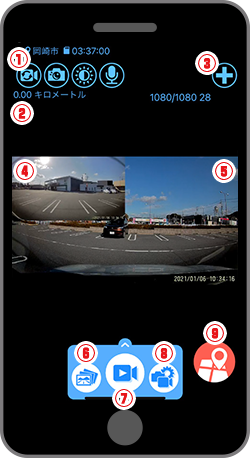 カメラ映像画面