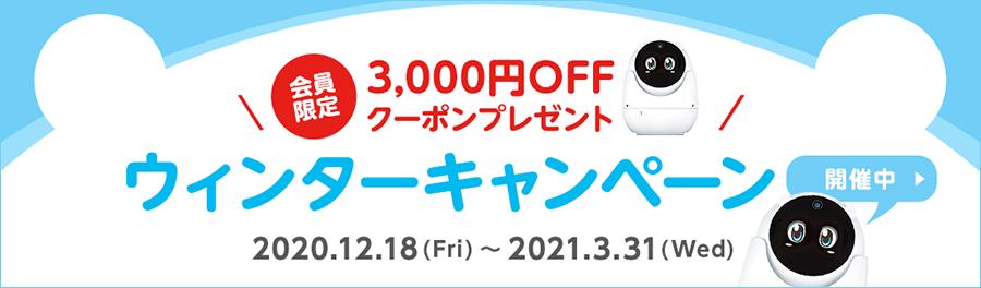 会員限定!3,000円OFFクーポンプレゼント!ウィンターキャンペーン開催中!